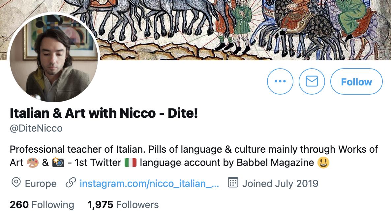 Italian & Art with Nicco - Dite!